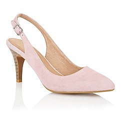 Lotus - Lotus pink suede 'Gloss' court shoes