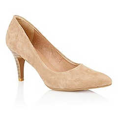Lotus - Lotus beige suede 'Drama' court shoes