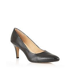 Lotus - Black leather 'Drama' high heel court shoes