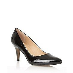 Lotus - Black patent leather 'Drama' high heel court shoes