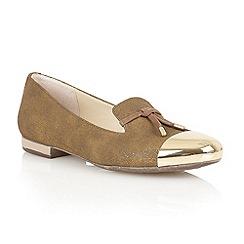 Lotus - Bronze 'Crest' flat shoes