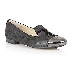 Lotus - Graphite 'Crest' flat shoes