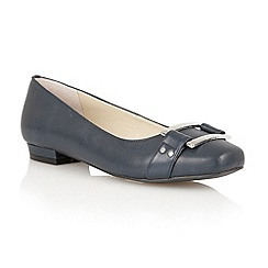 Lotus - Navy leather 'Twiggy' flat shoes