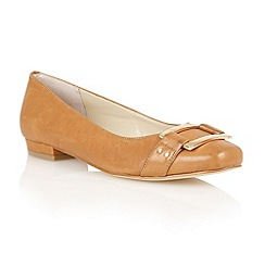 Lotus - Tan leather 'Twiggy' flat shoes