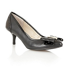 Lotus - Black leather 'Coco' court shoes