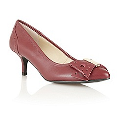 Lotus - Bordeaux leather 'Coco' court shoes