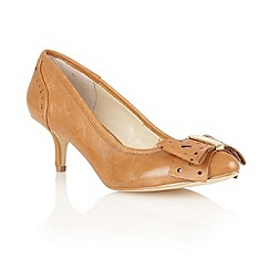 Lotus - Tan leather 'Coco' court shoes