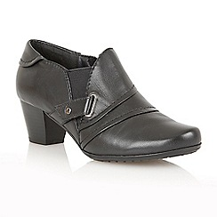 Lotus - Black leather 'Celt' boot shoes