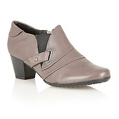 Lotus - Grey leather 'Celt' boot shoes