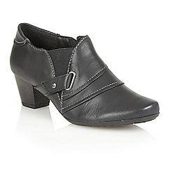 Lotus - Navy leather 'Celt' court shoes