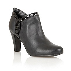 Lotus - Black leather 'Tempest' boot shoes