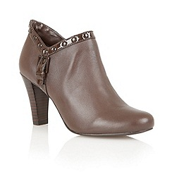 Lotus - Brown dark leather 'Tempest' boot shoes