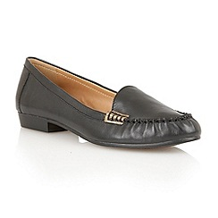 Lotus - Black leather 'Nena' flat shoes