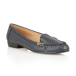 Lotus - Navy leather 'Nena' flat shoes