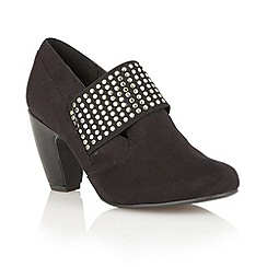 Lotus - Black microfibre 'Luster' shoe-boots