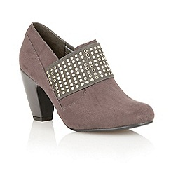 Lotus - Grey microfibre 'Luster' shoe-boots