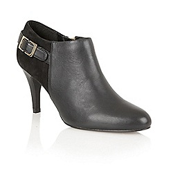 Lotus - Black leather suede 'Mist' court shoes