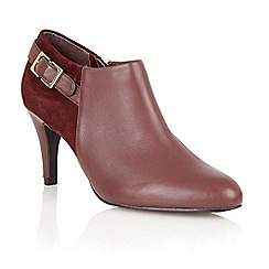 Lotus - Bordeaux leather/ suede 'Mist' high heel boot shoes