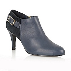 Lotus - Navy leather suede 'Mist' court shoes