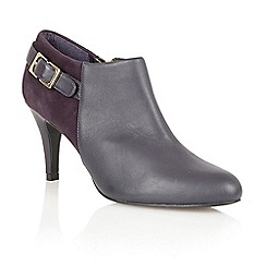Lotus - Purple leather/ suede 'Mist' high heel boot shoes