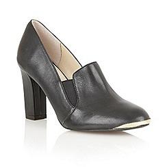 Lotus - Black leather ' Crew' high heel shoes