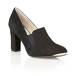 Lotus - Black suede ' Crew' high heel shoes