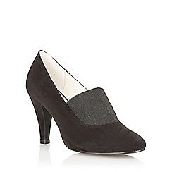 Lotus - Black Microfibre 'Shine' high heel shoes