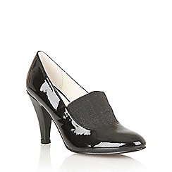 Lotus - Black shiny 'Shine' shoes