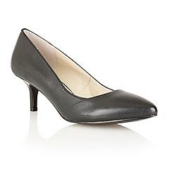 Lotus - Black leather 'Moto' court shoes