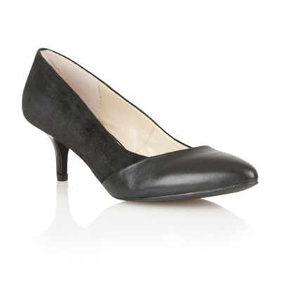 Lotus Black suede/leather/patent Moto court shoes