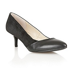 Lotus - Black suede/leather/patent 'Moto' court shoes