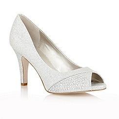 Lotus - Silver glitter ' Atlantic' peep toe shoes