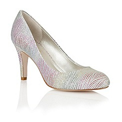 Lotus - Silver multi satin 'Pepa' court shoes