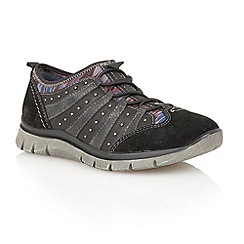 Lotus - Black 'Styra' casual shoes