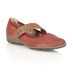 Lotus - Red 'Stratos' ballerina inspired shoes