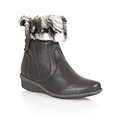 Lotus - Black 'Virkat' ankle boots