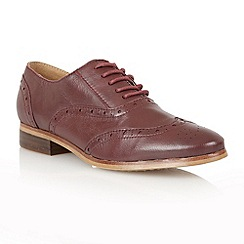 Lotus - bordeaux leather 'Cole' flat shoes