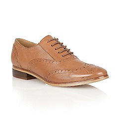 Lotus - Tan leather 'Cole' flat shoes