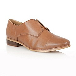 Lotus - Tan Leather 'Drake' flat shoes