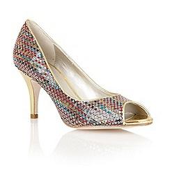 Lotus - Multi brights 'Spark' peep toe shoes