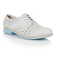 Lotus - Pale grey 'Audrey' lace-up shoes