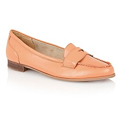 Lotus - Coral leather 'Miami' loafers