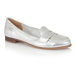Lotus - Lotus silver 'Miami' loafers