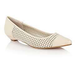 Lotus - Beige leather 'Diamond' flat shoes