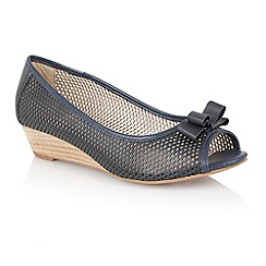Lotus - Lotus navy 'Alyssa' slip on shoes