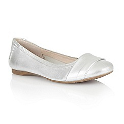 Lotus - Silver leather 'Sestriere' flat shoes