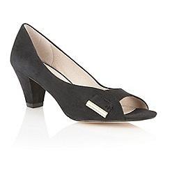 Lotus - Black 'Baroness' peep toe shoes