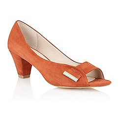 Lotus - Burnt orange 'Baroness' peep toe shoes