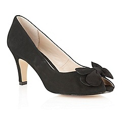 Lotus - Lotus black suede 'Elvira' peep toe shoes