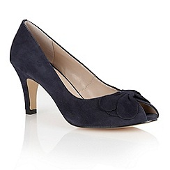 Lotus - Lotus navy suede 'Elvira' peep toe shoes